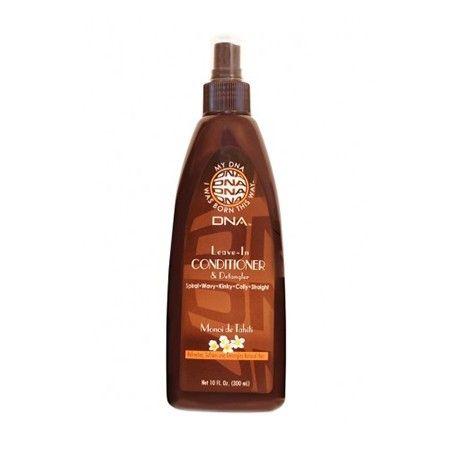 Leave-In Conditioner & Detangler - My DNA Curls. Ce soin est un conditionneur léger pour toutes les textures des cheveux naturels, qui améliore l'état des cheveux tout en démêlant et en hydratant.  Facilite peignage des cheveux pendant qu'ils sont humides. Soutient la croissance, hydrate, fait briller et fortifie les cheveux. Pour textures capillaires en spirales/ ondulées/ frisées/ bouclées/ crépues/ lisses. Contient du Monoï de Tahiti.