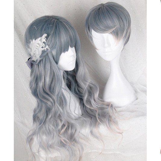 Pastel Gradient Grey Couple Wig SP168150
