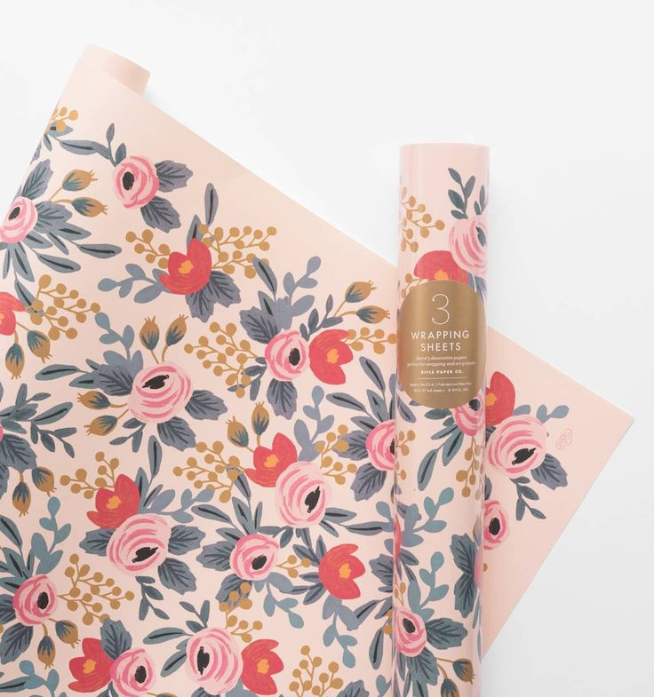 Blushing Rosa Set of 3 Decorative Wrapping Sheets