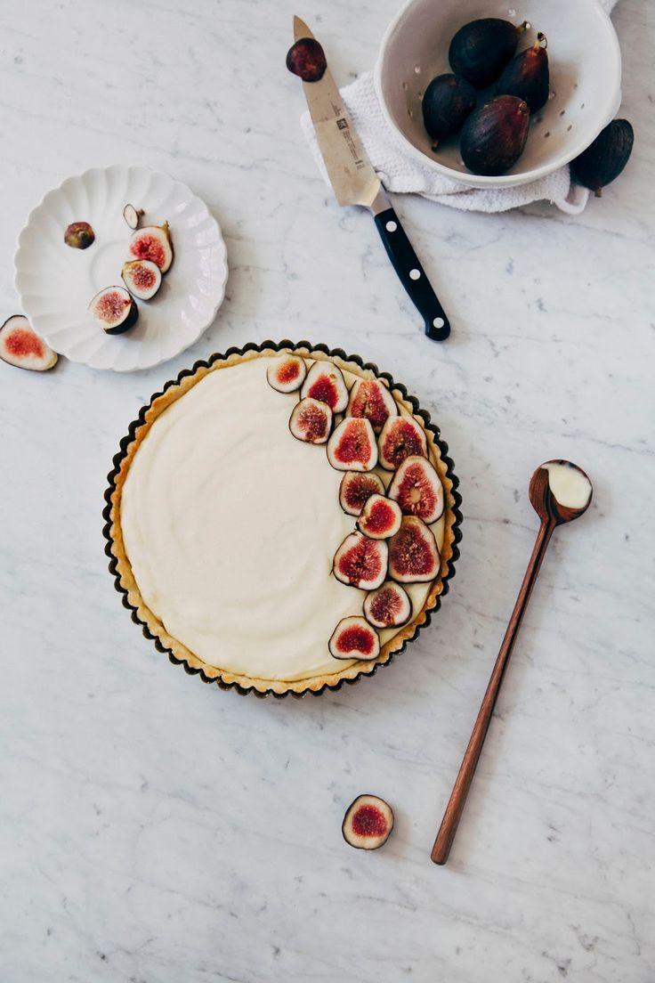 fresh fig and lemon cream tart - Hummingbird High