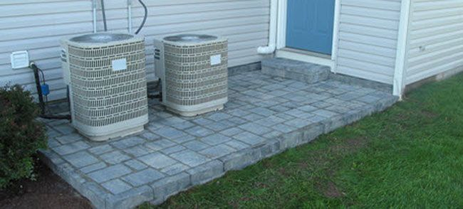 Concrete Cobble Street : Create a cobble patio overlay with stones over old
