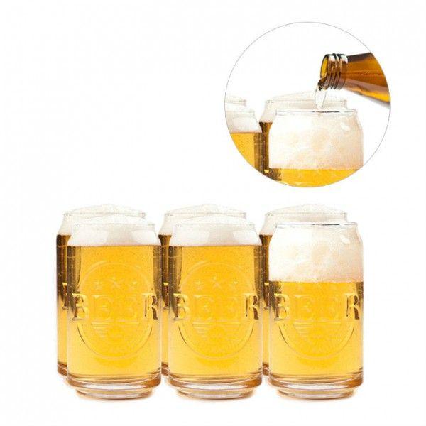 Un set de 6 verres insolites et design pour déguster une bonne petite bière entre amis une idée de cadeau insolite pour organiser sa propre fête de la