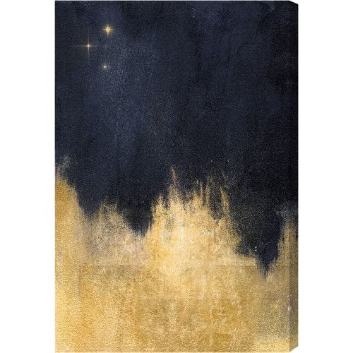 Found it at AllModern - Stars in the Night Gallery Painting Print on Wrapped Canvas