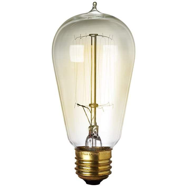 60 Watt Edison Style Medium Base Light Bulb - #5K420 | Lamps Plus