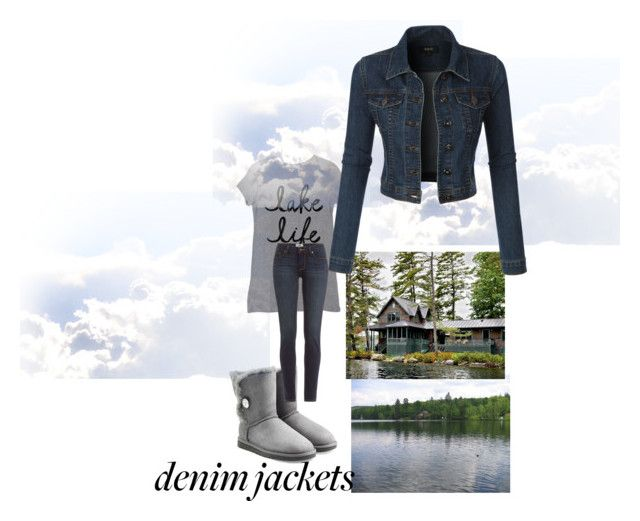 """Lake gateway"" by rpsounos ❤ liked on Polyvore featuring UGG Australia, Paige Denim and LE3NO"