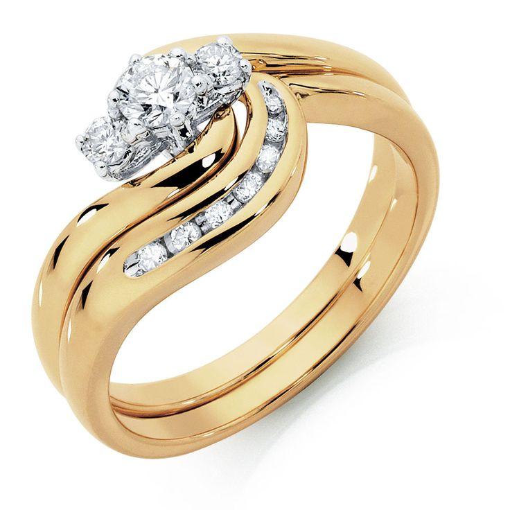 1/3 Carat TW Diamond Bridal Set