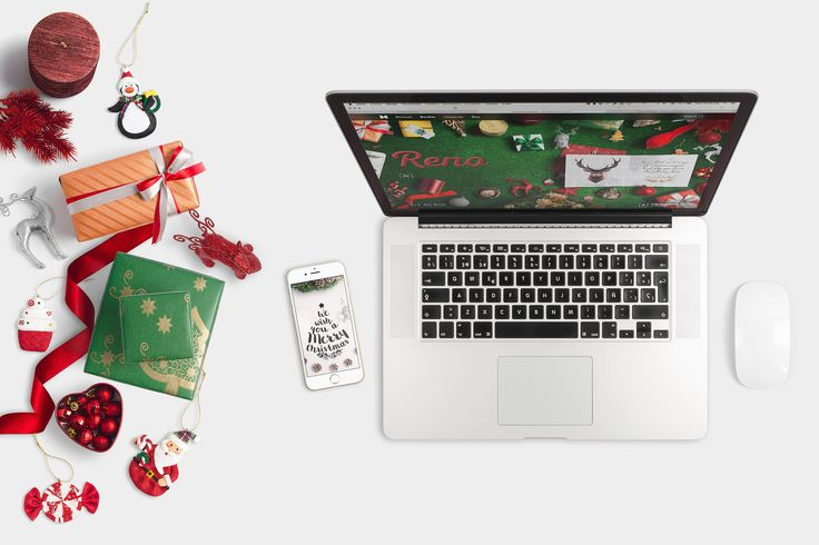 Christmas Header And Hero Scene Mockup 07 by Original Mockups on @originalmockups