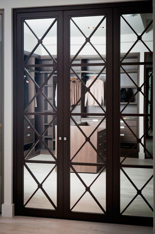 зеркальные двери в гардероб