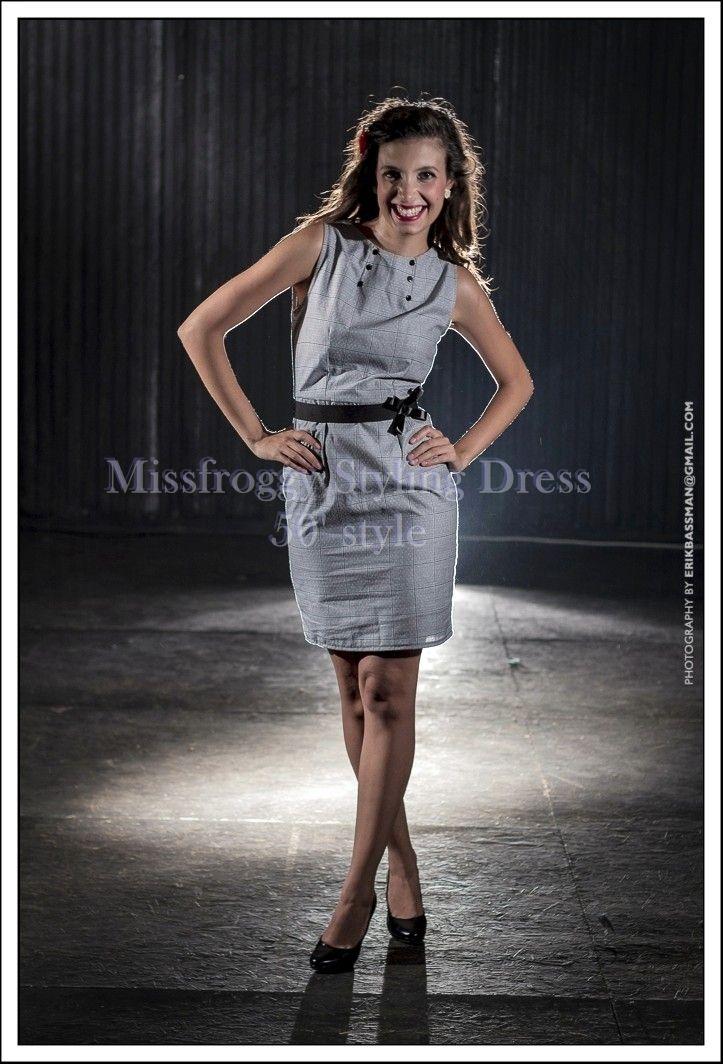 tubino grigio  anni 50 fifties dress