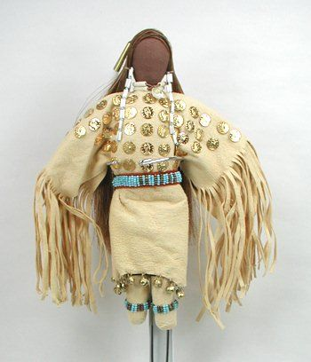 Native American Lakota no face doll She Walks with the Sunset by Diane Tells His Name