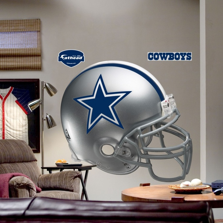 Football Helmet Vinyl Wraps : Fathead dallas cowboys helmet wall graphic