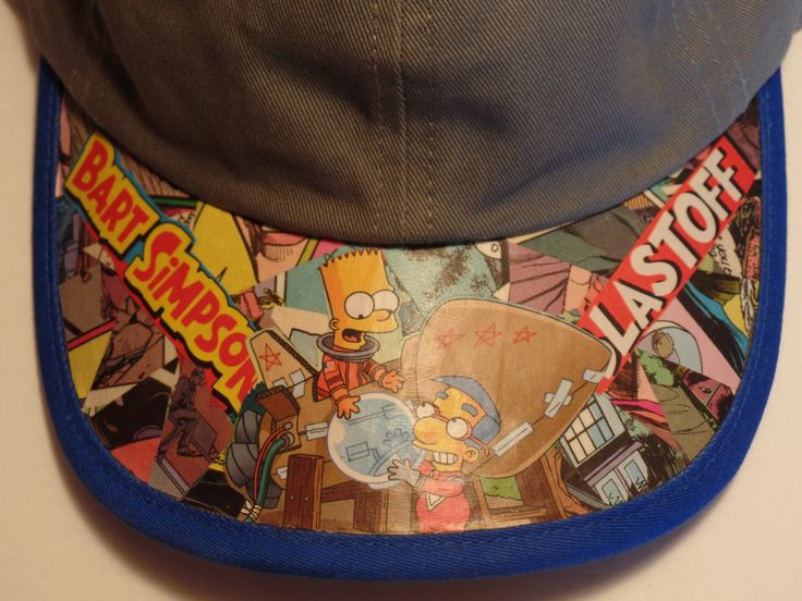 Bart Simpson Youth Ball Cap by GeekyGs on Etsy