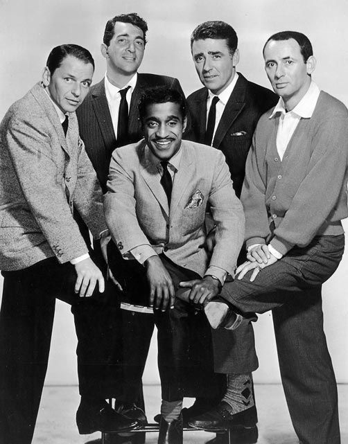 The Rat Pack: Sammy Davis Jr., Frank Sinatra, Dean Martin, Peter Lawford, Joey Bishop