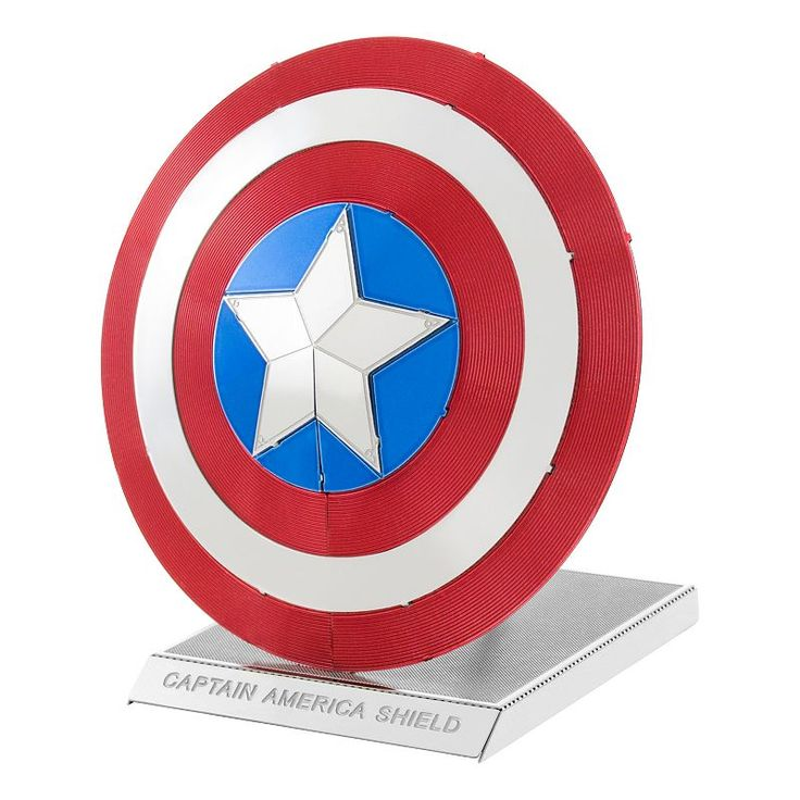 Marvel Avengers Captain America's Shield Metal Earth 3D Laser Cut Mode Kit by Fascinations, Multicolor