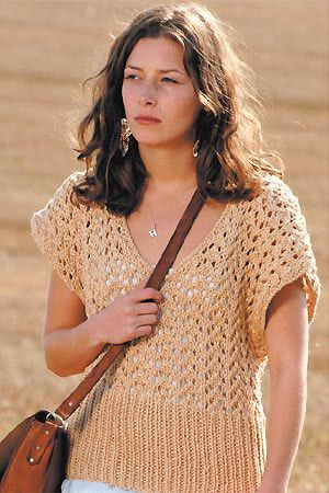 How to knit a lacy top :: Free knitting patterns :: UK knitting patterns
