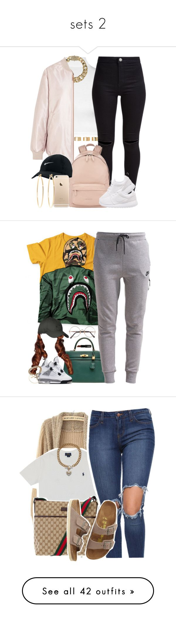 """""""sets 2"""" by simoneswagg on Polyvore featuring WearAll, AllSaints, Acne Studios, ASOS, New Look, Givenchy, NIKE, Brooks Brothers, Hermès and A BATHING APE"""