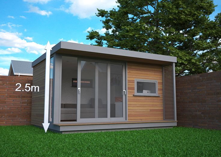 If you want to site a garden office within 2m of the boundary it needs to be no taller than 2.5 meters