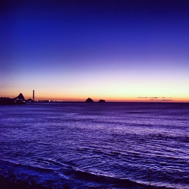 Sunset from New Plymouth, New Zealand