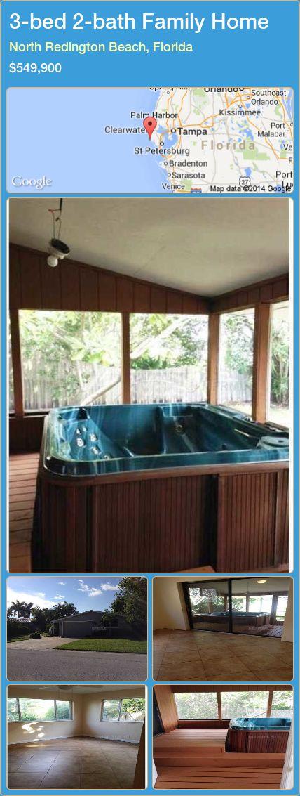 3-bed 2-bath Family Home in North Redington Beach, Florida ►$549,900 #PropertyForSaleFlorida http://florida-magic.com/properties/53914-family-home-for-sale-in-north-redington-beach-florida-with-3-bedroom-2-bathroom