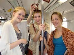 Volunteers enjoying a Journey in Delhi Metro with Volunteering India  http://www.volunteeringindia.com/