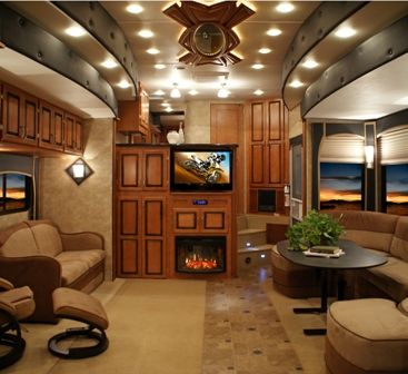 freightliner toy hauler motorhome 61 best future home images on pinterest travel trailers toy