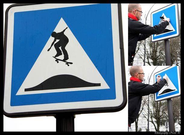 Street Art – 23 Panneaux détournés par Jinks Kunst