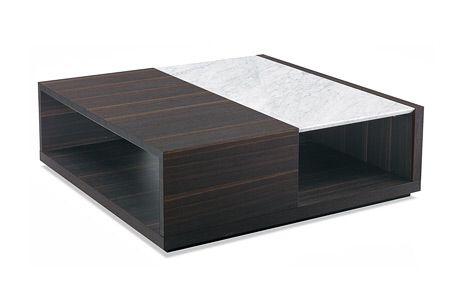 Poliform marble panel coffee table