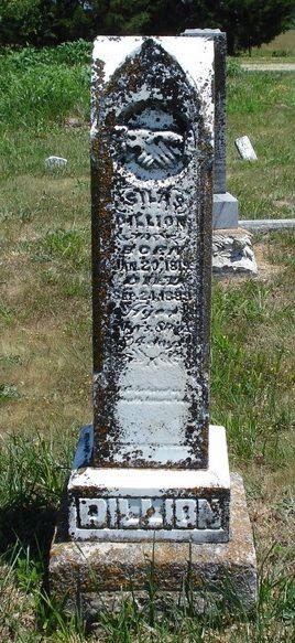 Silas Dillion Grave marker Bowers Chapel Cemetery Urbania Dallas Co Missouri America photo thanks to Pamela