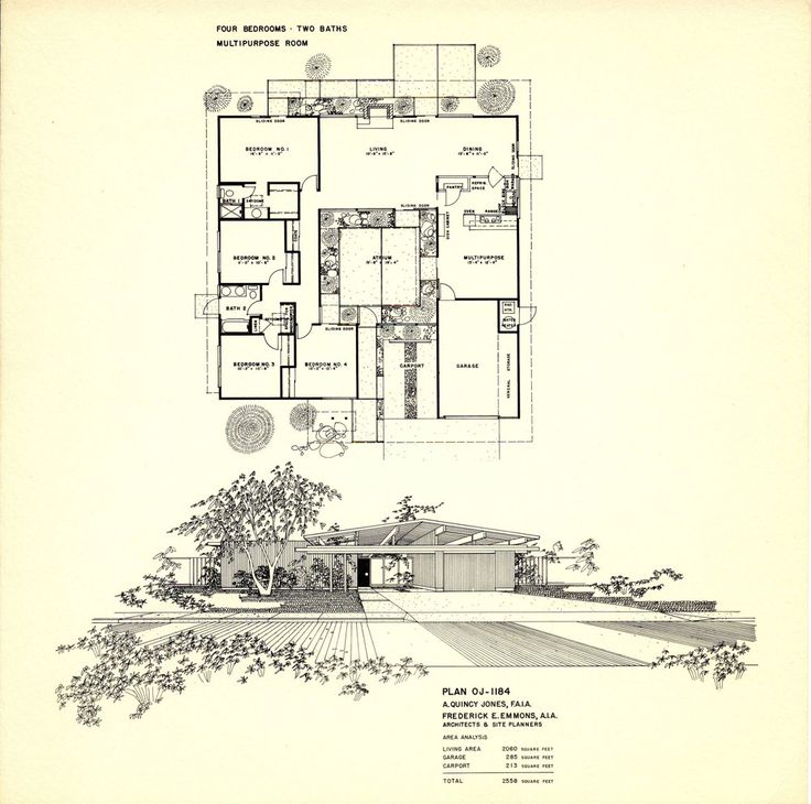 1000 ideas about joseph eichler on pinterest eichler Eichler atrium floor plan