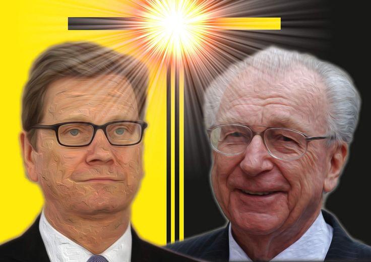 ❌❌❌ Dass zwei Größen der deutschen Politik am selben Tag ableben muss etwas zu bedeuten haben. Wir vermuten in diesem Fall sehr stark, dass man die schwarz-gelbe Koalition wenigstens in einer anderen Realität schon einmal wiederbeleben will. ❌❌❌ #Westerwelle #Späth #Todesfälle #FDP #CDU #SchwarzGelb #Politik