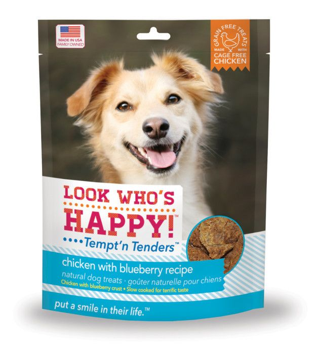 Look Who's Happy! Tempt'n Tenders Chicken & Blueberry 4 oz.