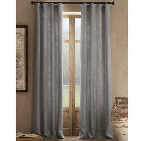 Love these linen curtains from Restoration Hardware!