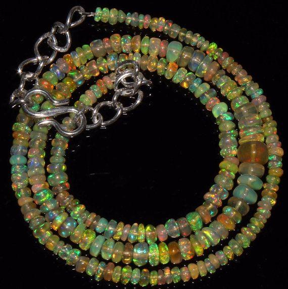 Natural Welo Ethiopian Opal Rondelles Ethiopian Opal by alifaarts