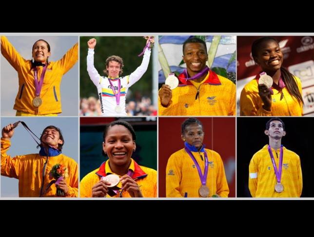 Medallistas colombianos de Londres-2012 ¡Geniales todos!