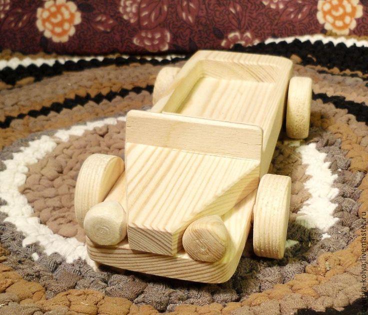 Купить машинка Джип - белый, деревянные иргушки, деревянная игрушка, игрушки из дерева, деревянная машина