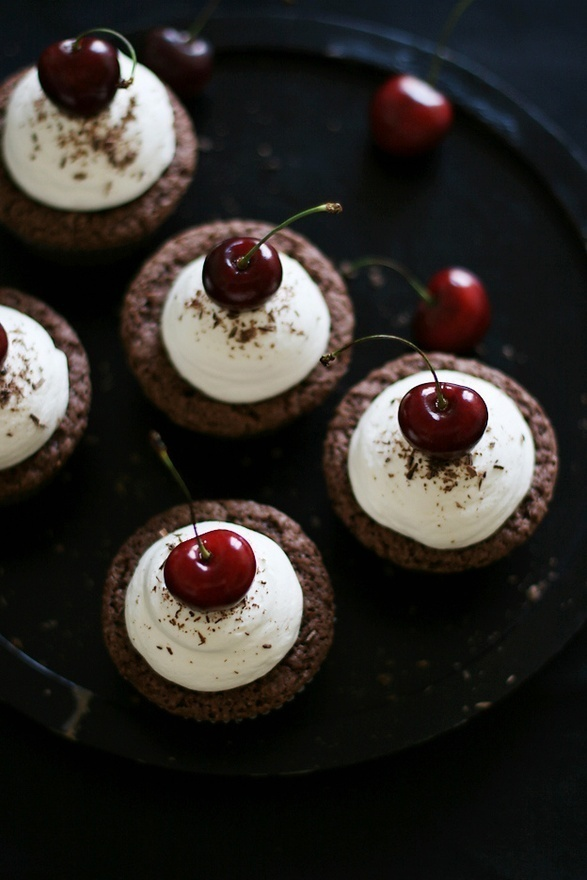 call me cupcake! - food  drink - food - dessert - chocolate cherry cupcakes food-dessert food food food