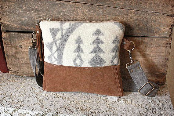 Crossbody Purse made in Pendleton Oregon Fabric & by cindymars7