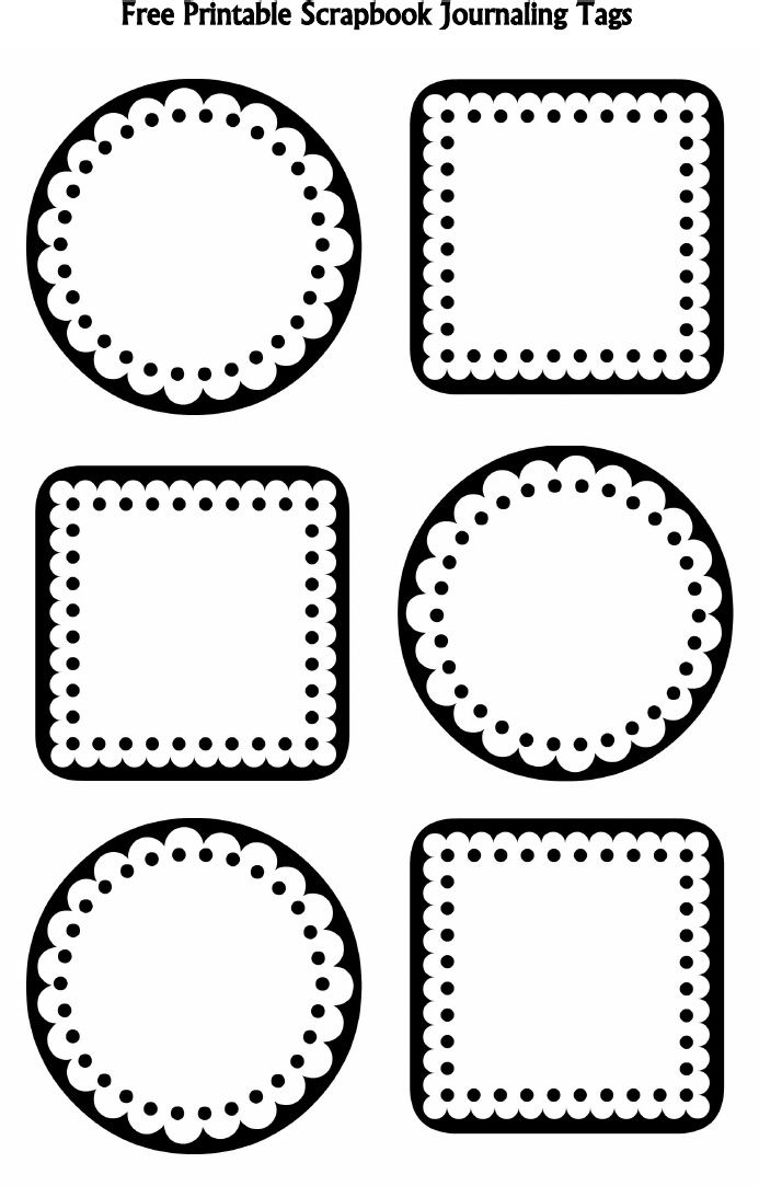 Scallops and Dots B Scrapbook Journaling Tags – FREE download