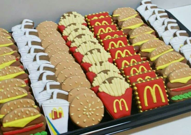 Fast food cookies - probably about the same calories in the cookies as in the…