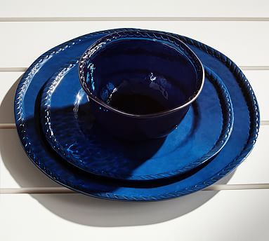 Rope Outdoor Dinnerware, Indigo #potterybarn