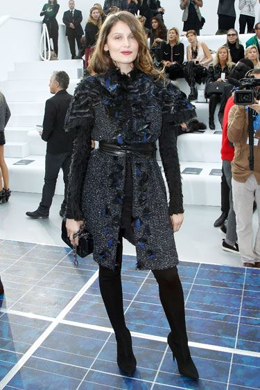 Chanel Front Row - Laetitia Casta in Chanel