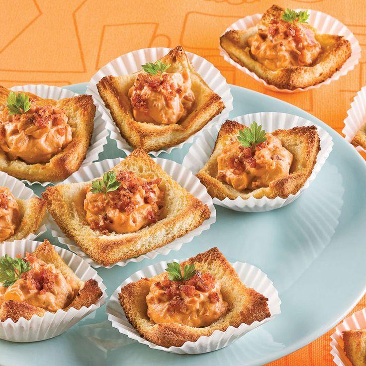 Canapés au fromage et bacon - Entrées et soupes - Recettes 5-15 - Recettes express 5/15 - Pratico Pratique