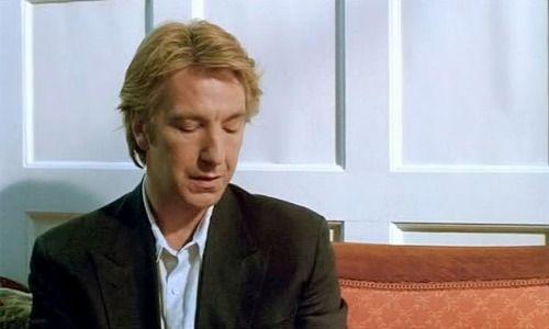 "1991 - Alan Rickman as Sinclair in ""Close My Eyes."""