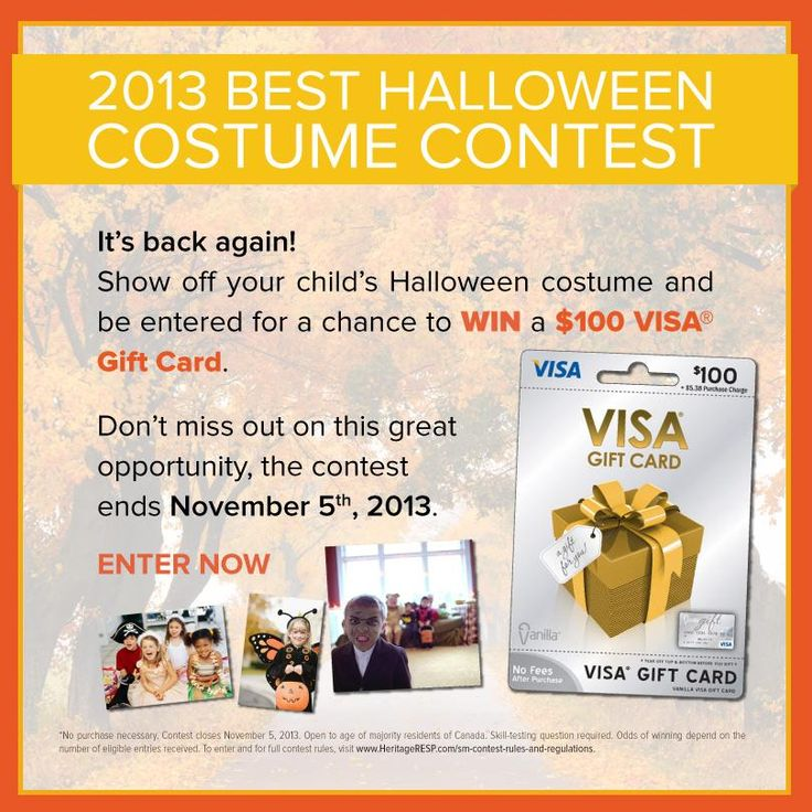 It's back again! Show off your child's Halloween costume and be entered for a chance to WIN a $1000 VISA Gift Card.  Don't miss out on this great opportunity, the contest ends November 5th, 2013.  Click here to Enter Now: http://on.fb.me/1awrj7f