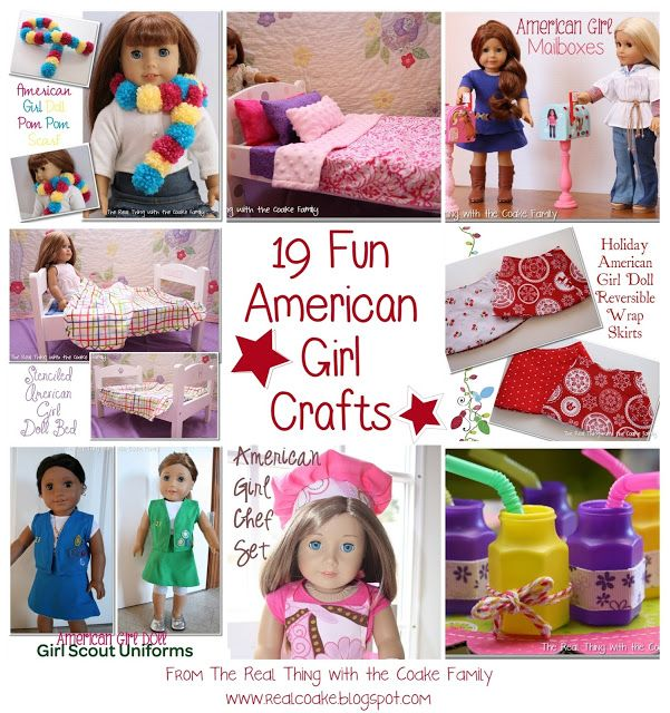 19 Fun American Girl Crafts (Crafts, Sewing, Clothing & Party Ideas) #americangirl #crafts doll clothes and doll crafts via realcoake