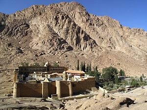 St. Catherine`s Monastery, Mount Sinai.  Drink ouzo with the Greek Orthodox monks at the monastery.