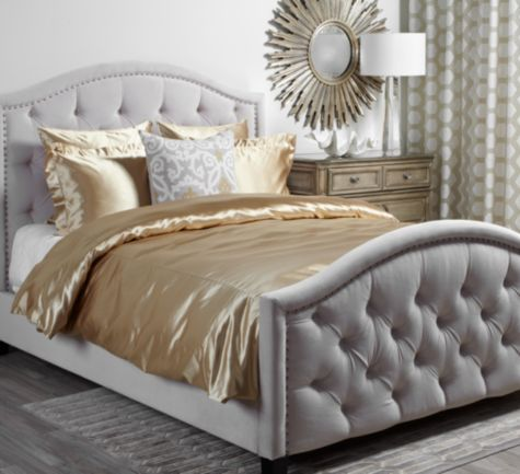Our New Bed And The Inspiration For The Master Bedroom Decor. Nicolette Bed    Bella Pearl From Z Gallerie | MY FUTURE HOUSE :) | Pinterest | Master  Bedroom, ...