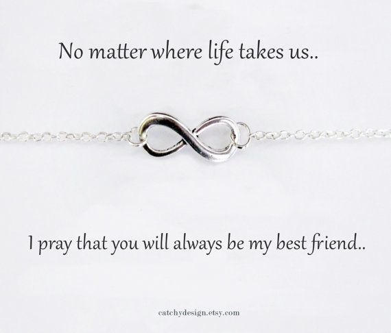 Quotes About Best Friends Gift : Best friend gift bff infinity bracelet with friendship