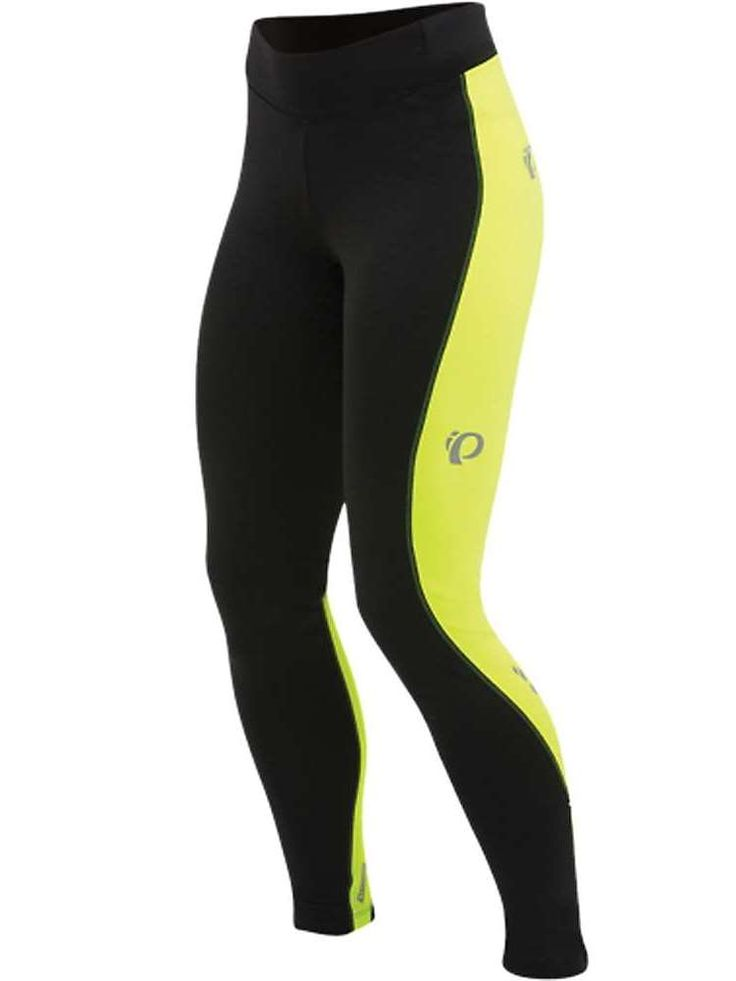 Pearl Izumi Sugar Thermal Cycling Tights: Yellow high visibility cycling tights to keep your legs warm when biking in cold weather