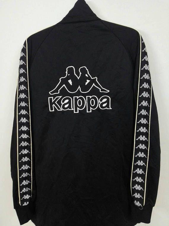 93850be4d69 Vintage Kappa Jacket Jaspo Big Logo Fully Zipper Stripe Logo Hip Hop ...